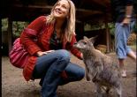 Host Sabrina Register and a wallaby