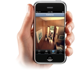 hand holding Xfinity Home app on a smartphone