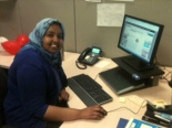 We welcomed Fadumo Ali, our  communications intern, with her own cubicle for the summer! Many thanks to the Emma L. Bowen Foundation for matching media students and companies. Fadumo starts at Washington State University in the fall.