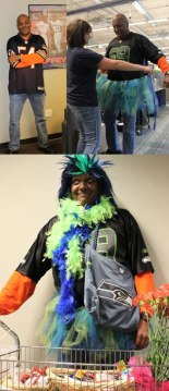 Lynnwood WAComcast  Call Center Supervisor Greg Skinner, born and raised in Chicago, dresses up to get attention for United Way.