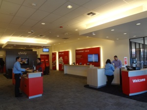interior of new Xfinity Store in Factoria/Bellevue