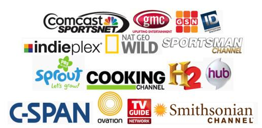 logos of new HD channels in Seattle