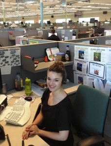 Holly in the Lynnwood Call Center