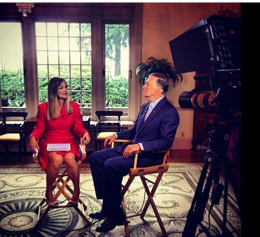 Comcast Newsmakers Host Sabrina Register with Governor Jay Inslee.