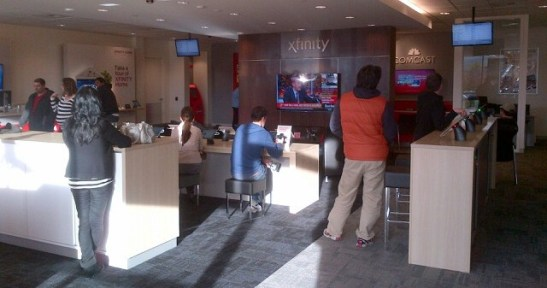 another view of Redmond Xfinity store interior