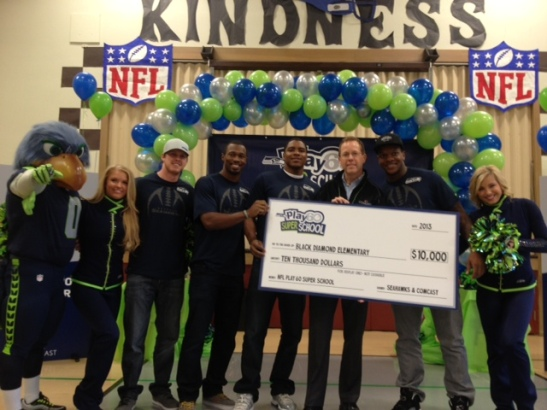 Seahawks and others at the event