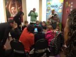 scene of children and dignitaries from Tacoma news event