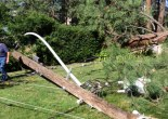 power pole laying on ground