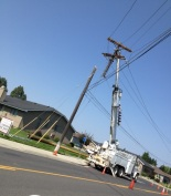 broken power pole