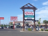 Street sign for the new Xfinity Store in Spokane